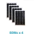 Lot de 4 Panneaux Photovoltaïques VICTRON 50Wc  12V Monocristallins