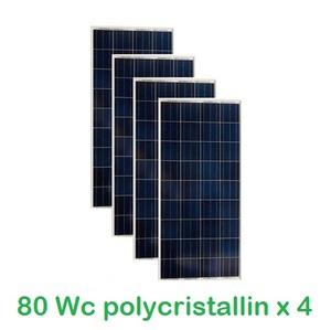 Lot de 4 Panneaux Photovoltaïques VICTRON 80Wc  12V Polycristallins