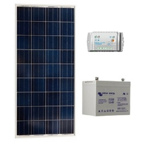 Kit Photovoltaique 100Wc 60 AH VICTRON - 12V