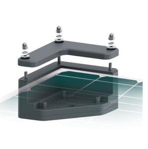 Support de fixation de panneau solaire pour camping-car UNIFIX 1.C 30 mm