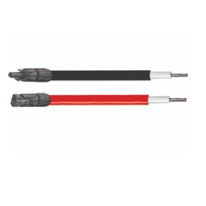 2 cables solaires de 8M noir et rouge 6mm²